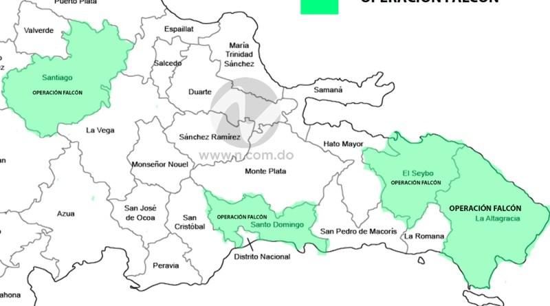 Los jeques de la Operación Falcón se dividieron el DN, Santiago, Miches y La Altagracia