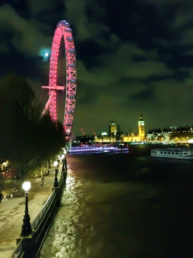Londoneye bei Nacht, oft gesehen während den 4 Jahren Auslandsaufenthalt in London