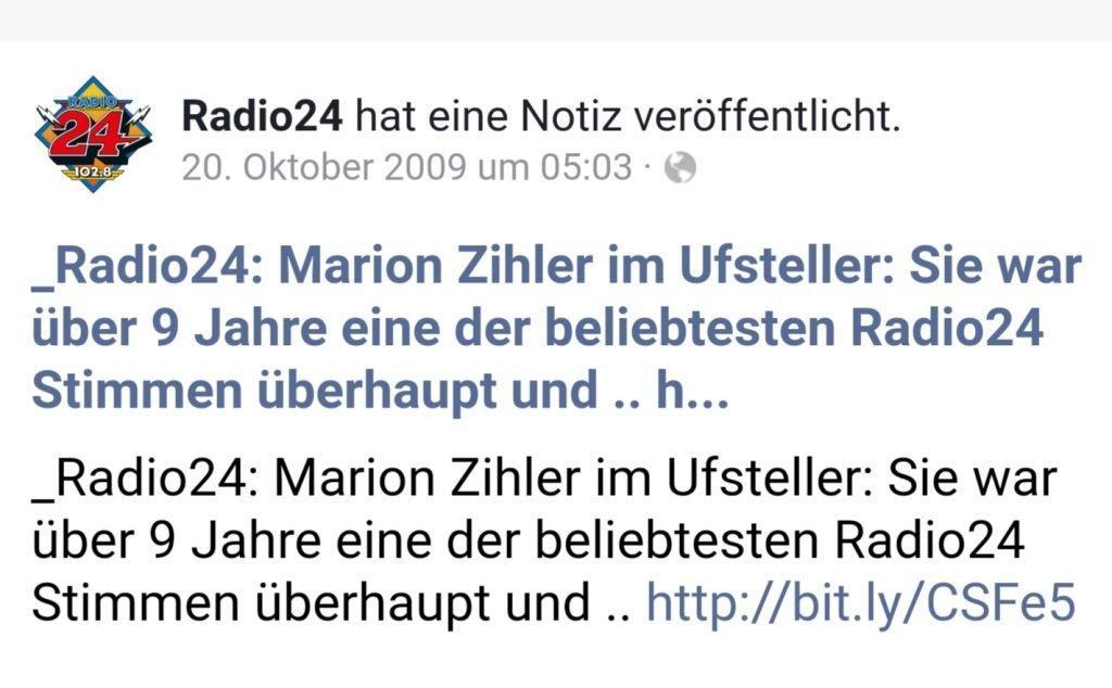 zu gast beim Radio24 Uufsteller, Ex Radiomoderatorin Marion Gredig