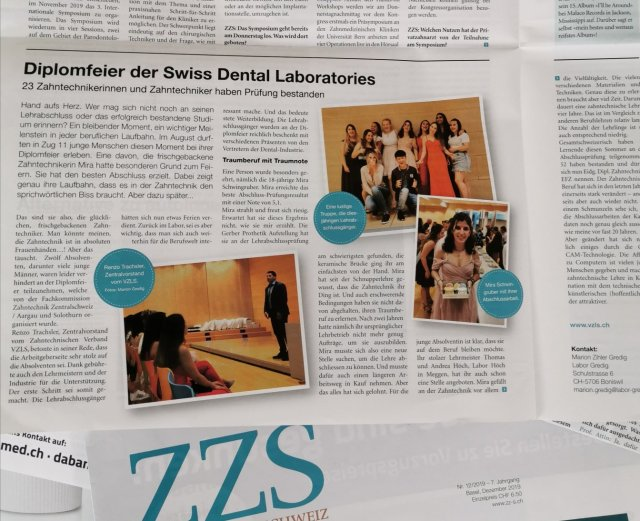 bericht über diplomfeier swiss dental laboratories