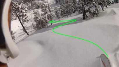 10 conseils pour bien skier en poudreuse-Visualiser-labo du skieur-morgan Petitniot