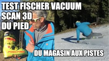 Test fischer vacuum scan 3D du pied - labo du skieur