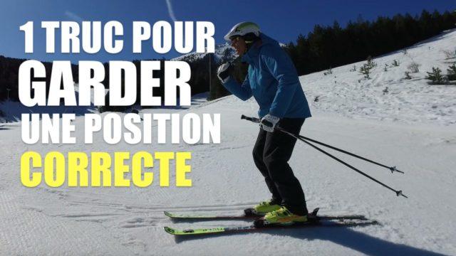 [Vidéo] Ski - 1 truc SIMPLE pour garder la position de base en ski