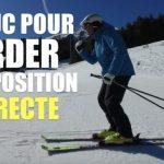 [Vidéo] Ski – 1 truc SIMPLE pour garder la position de base en ski