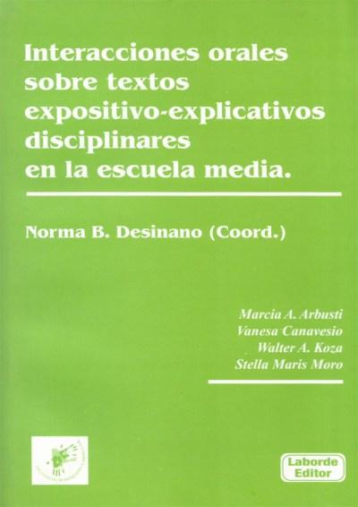 Interacciones orales sobre textos expositivos-explicativos disciplinares en la escuela media