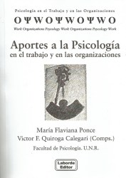 Aportes a la psicología en el trabajo y en las organizaciones