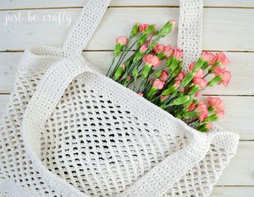 bolsa para el mercado de crochet