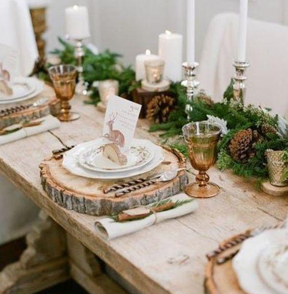 mesa de navidad decorada