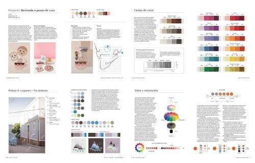 interior del libro diseña paletas de colores