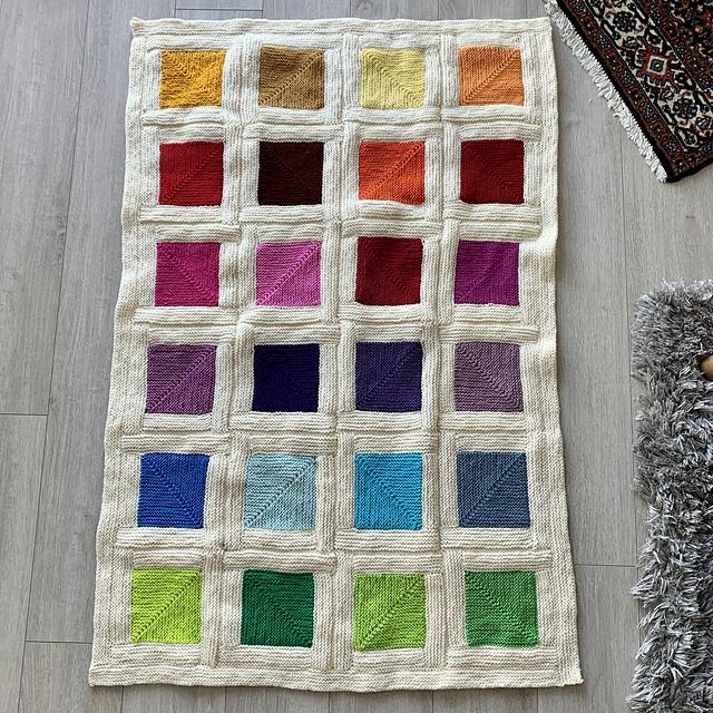 tejer manta mitered squares