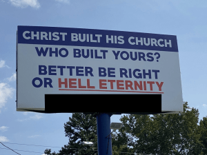 """""""Christ built His church. Who built yours? Beter be right or HELL ETERNITY"""""""
