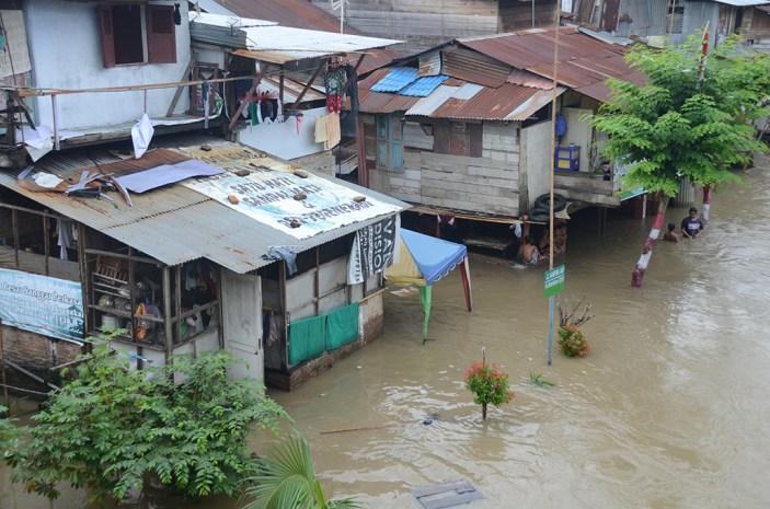 Markas Labosude ketika direndam banjir