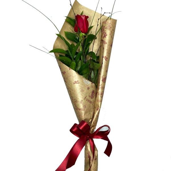rosa individual San Valentín