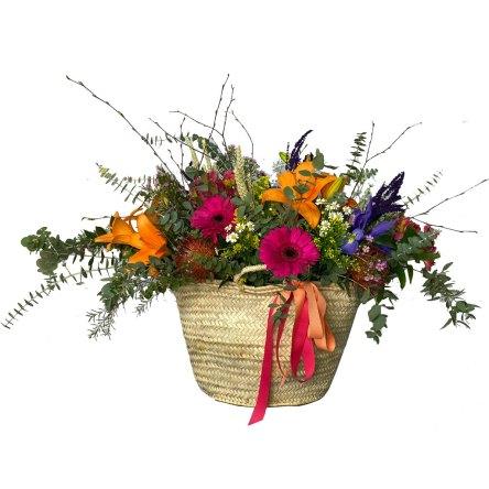 """Capazo de flores """"Elche"""""""