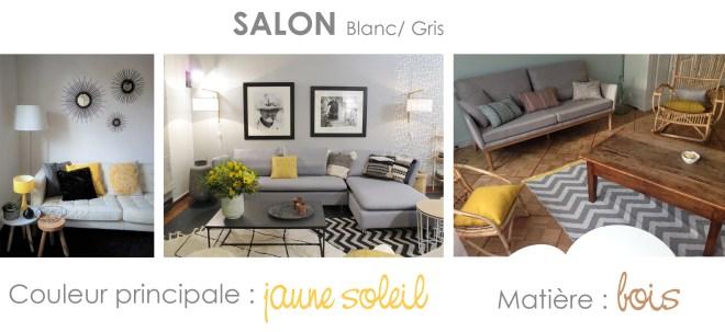 comment décorer salon jaune et gris