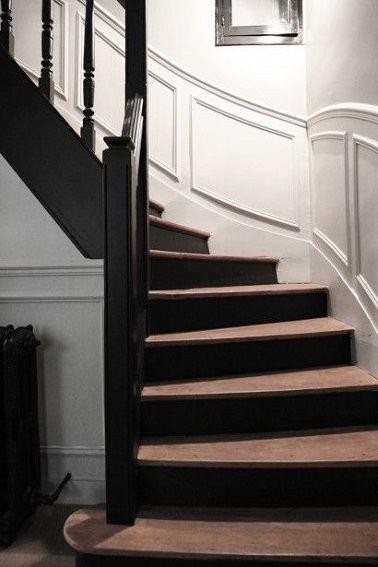 escalier noire