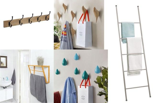 Relooker salle de bain Patères et sèches serviettes