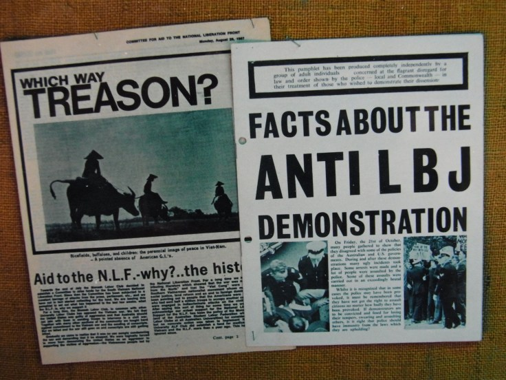 Which Way Treason (Committee for Aid to the National Liberation Front, Monash August 1967) Facts About the Anti LBJ Demonstration (Monash SRC, October 1966)