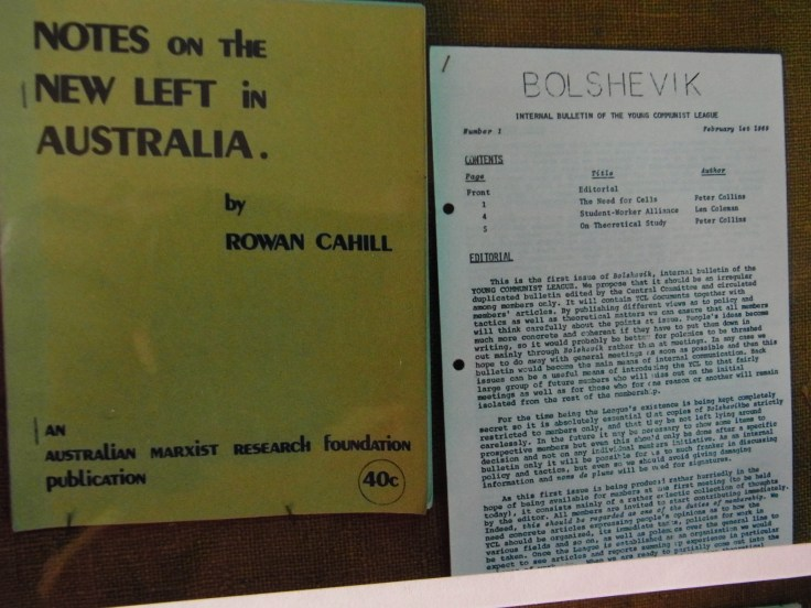 (Cover) Rowan Cahill, Notes on the New Left in Australia, Sydney, 1969 Bolshevik (Young Communist League), No. 1, February 1969(Cover) Rowan Cahill, Notes on the New Left in Australia, Sydney, 1969 Bolshevik (Young Communist League), No. 1, February 1969