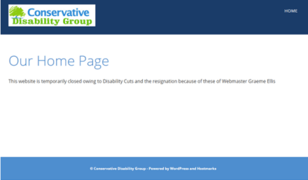 Conservative Disability Group Graeme Ellis