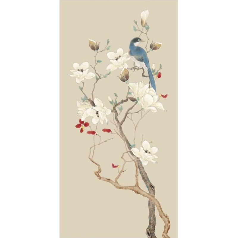 Dcor Japonais Zen Papier Peint Intiss Fleurs Et Oiseaux