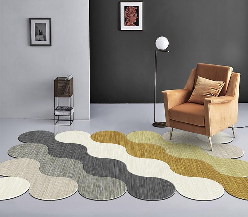 tapis laine artisanal sur mesure ton pastel chambre d hotel atelier wybo