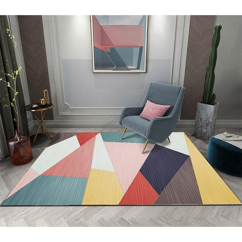 achat tapis moderne colore personnalise salon sejour chambre atelier wybo
