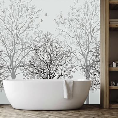 panneau etanche sdb photo imprime personnalisee arbre oiseau atelier wybo