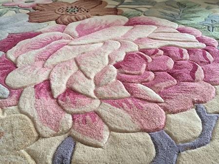 tapis sol artisanal pure laine fait main sur mesure style oriental asiatique moderne atelier wybo