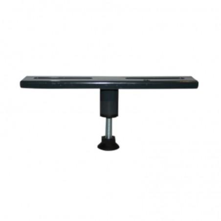 pied central en acier reglable 9 a 15 cm pour sommiers de lit