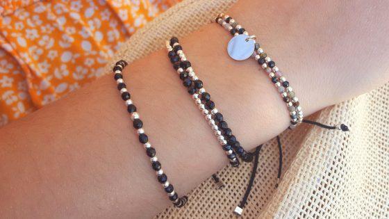brcelet pierres onyx