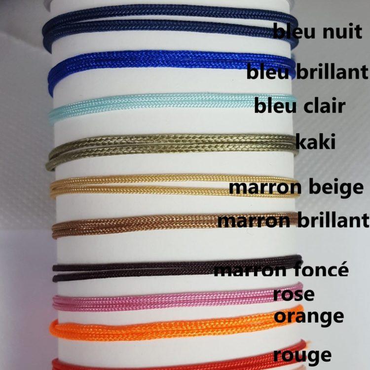 couleurs de cordons