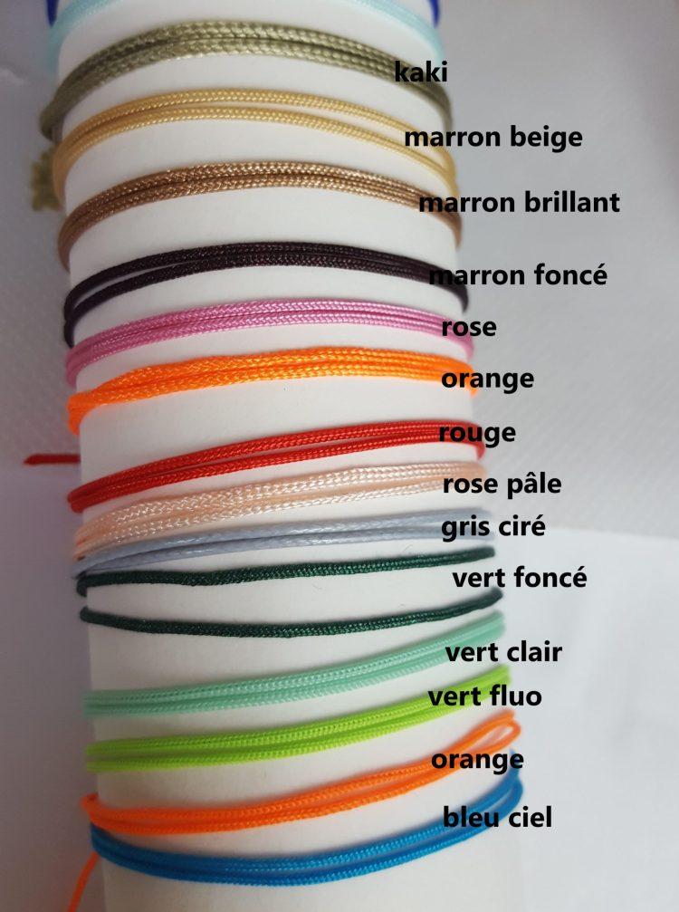choix des couleurs des cordons