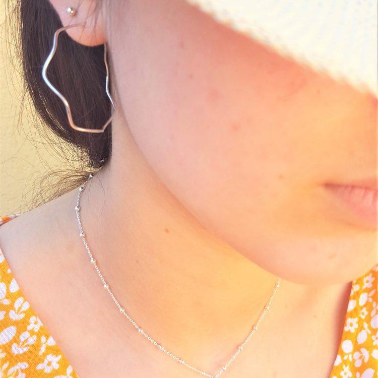 boucles d'oreilles argent femme