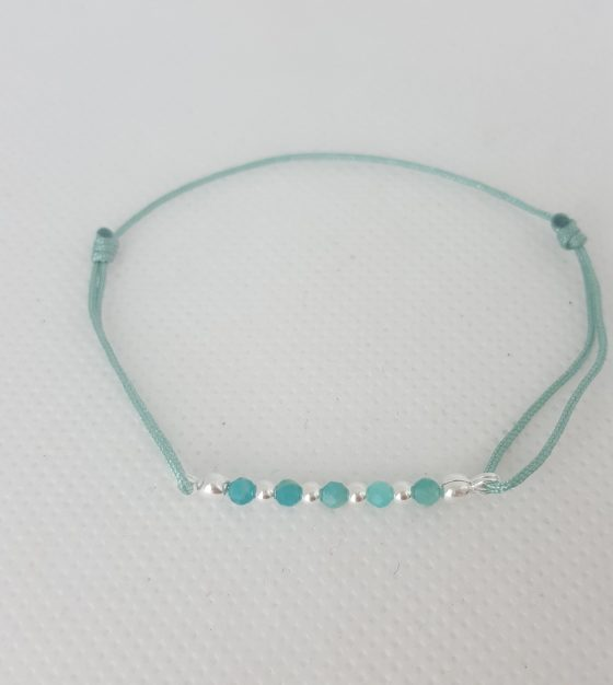 Bracelet femme perles argent LBB
