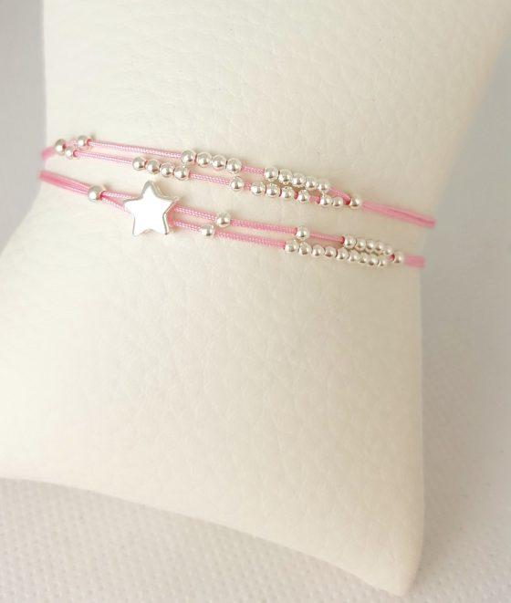 bracelet femme cordon et perles
