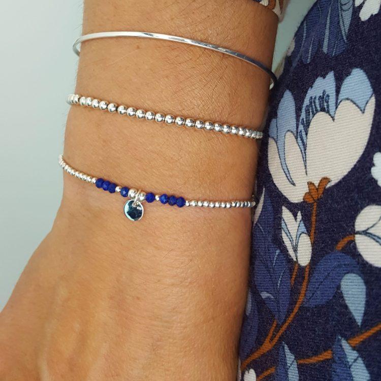 bracelet femme perles argent- la boutique du bijou