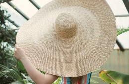 Chapeau de paille géant