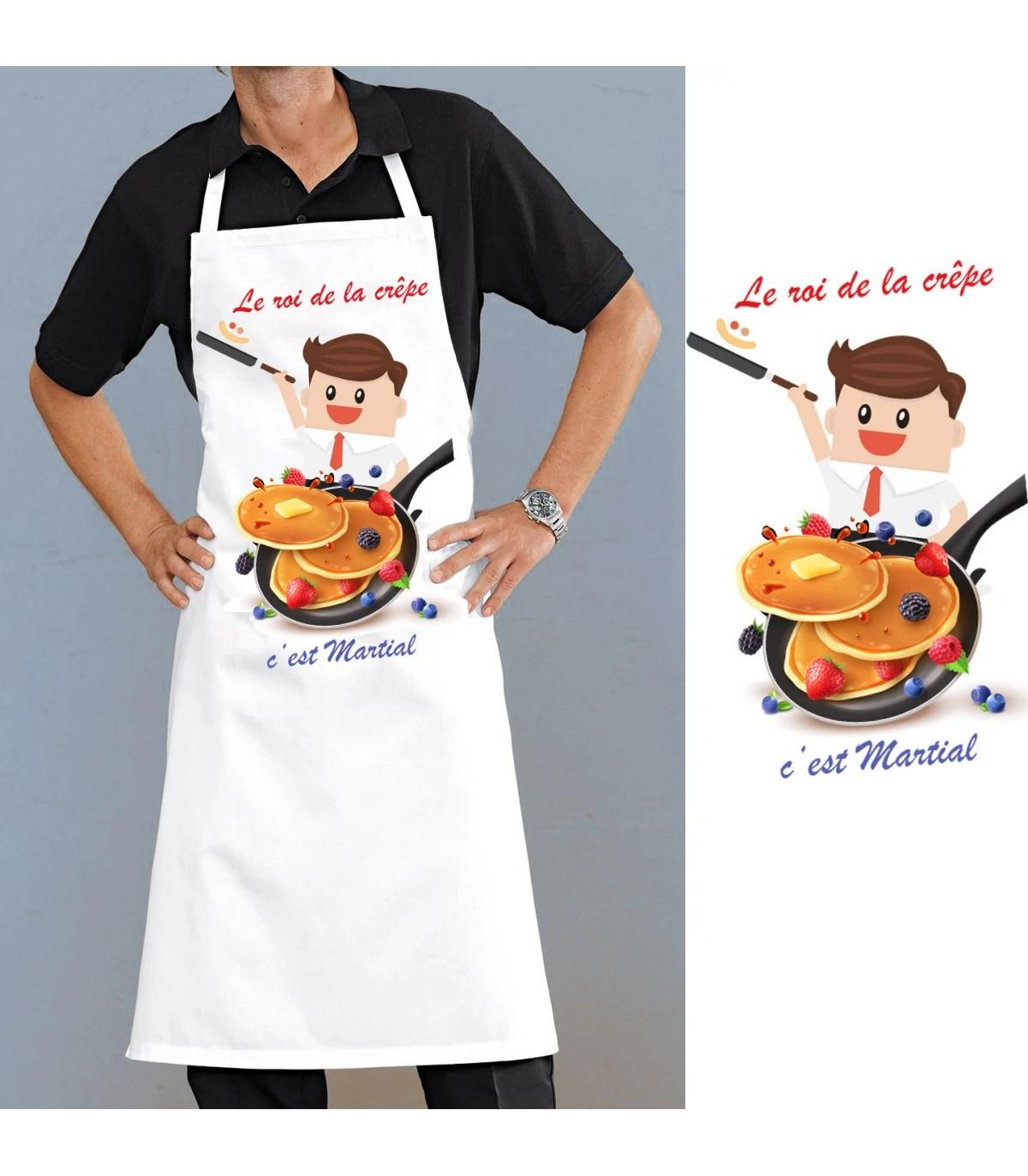 tablier cuisine homme crepe