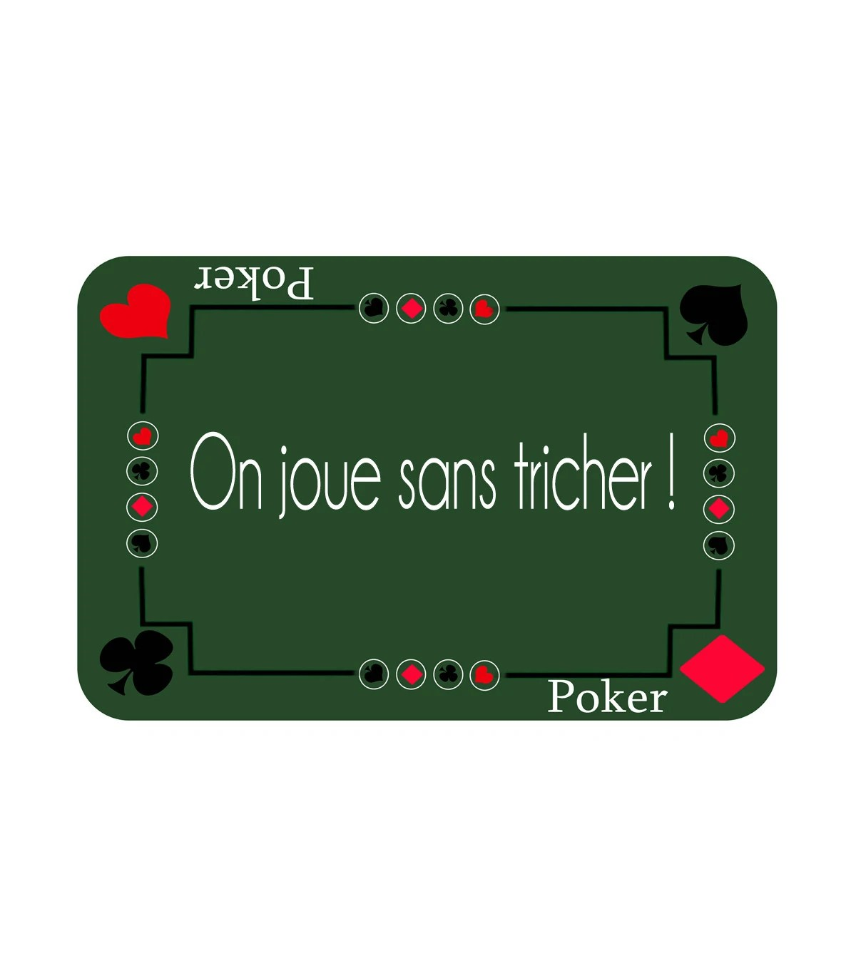 tapis de jeu poker personnalise
