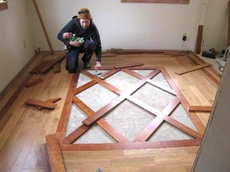 tile and wood floor designs