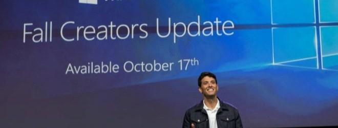 La próxima gran actualización de Windows 10 se lanzará poco a poco a partir del 17 de octubre