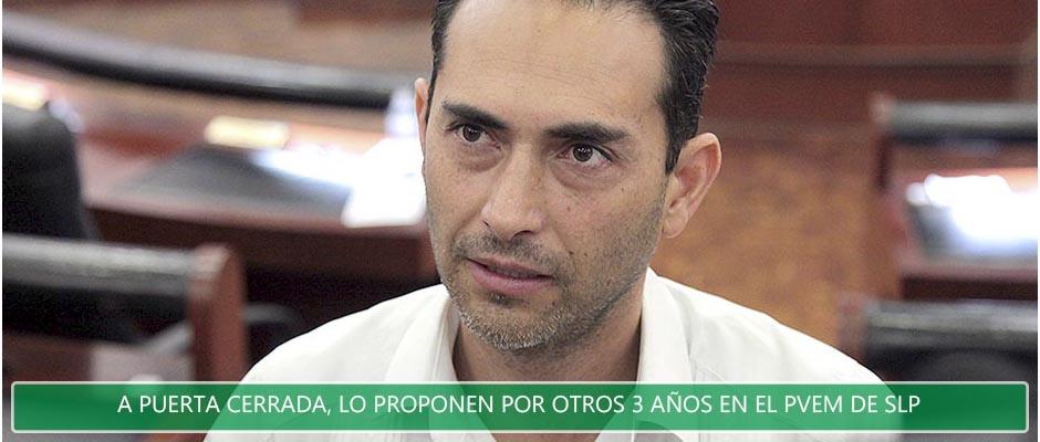 A puerta cerrada propone PVEM a Manuel Barrera, por otros tres años