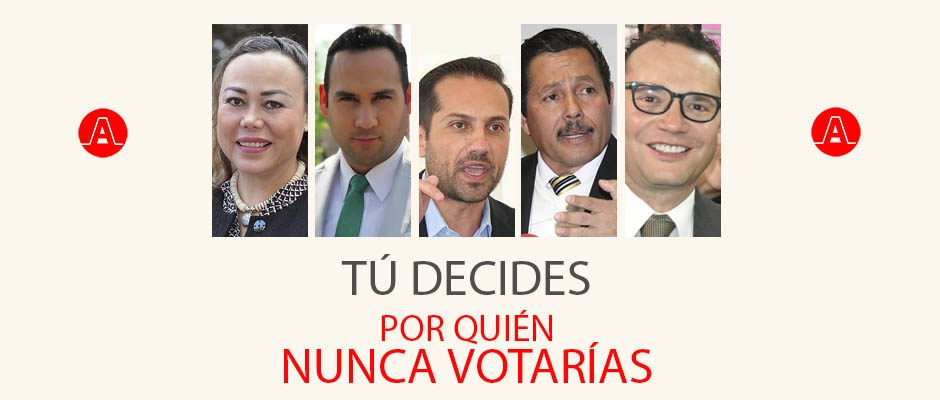 Si Hoy Fueran las Elecciones ¿Por Quién de los Candidatos a la Presidencia Municipal de la Capital Potosina Nunca Votarías?