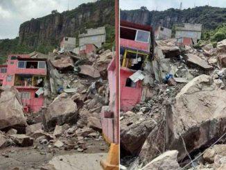 Derrumbó el Cerro del Chiquihuite