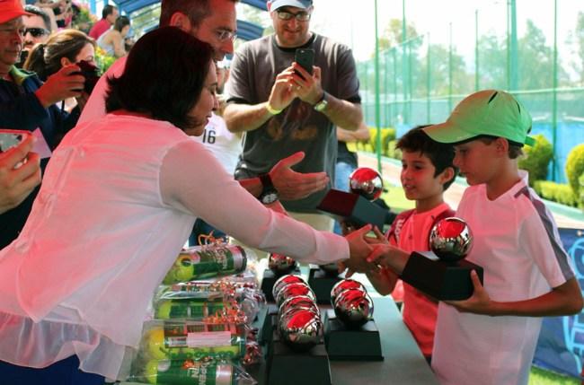 1er Campeonato Nacional Tenis Grand Slam -premiación finalistas (dobles)