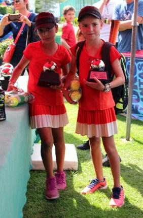 1er Campeonato Nacional Tenis Grand Slam - premiacion finalistas cat 10 años fem dobles
