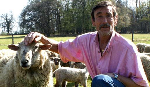 Philippe Layat, le paysan qui résiste au Grand Stade de l'OL. Crédit : DD/Rue89Lyon.