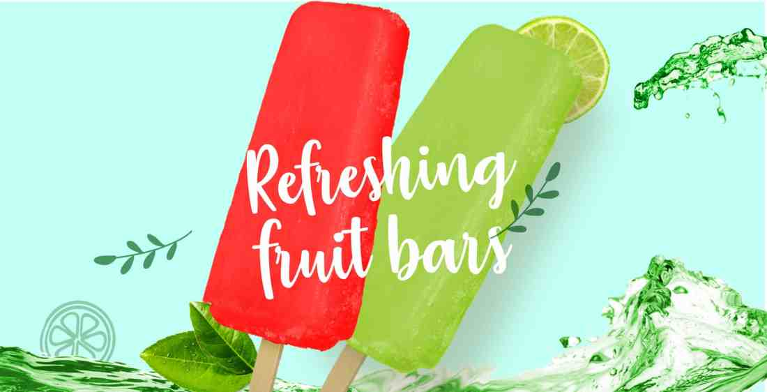 Refreshing fruit bars