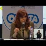 CFK sobre el maíz y el trigo